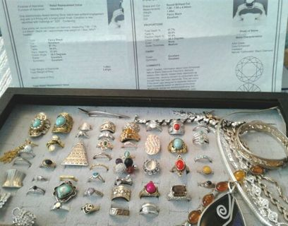 ~Largest Jewelry Auction EVER 59 Piece, Solid Gold Diamonds and 1.49 Black Diamond with Certificate~