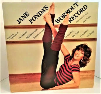 1981 JANE FONDA'S WORKOUT RECORD - 2 LPs 33 1/3 RPM records - excellent condition