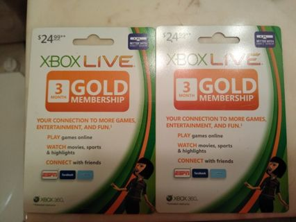 XBOX LIVE 3 MONTH GOLD