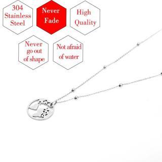 NEVER FADE 100% Stainless Steel Globe World Map Necklace For Women Men Earth Day Wanderlust Choker