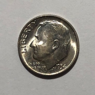 Uncirculated 1954 D Silver Dime