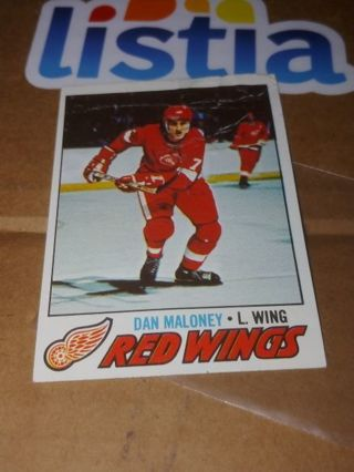 DETROIT RED WINGS⭐VINTAGE NHL⭐1977 TOPPS⭐POOR COND (BITE MARKS)⭐FREE $HIPPING