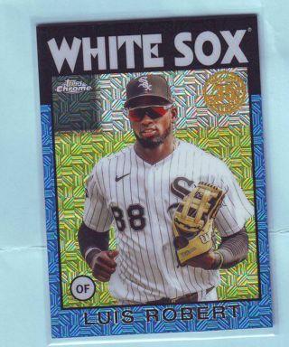 2021 Topps Luis Robert #'d 11/150 Silver Pack 1986 Chrome Mojo Refractor Baseball Card