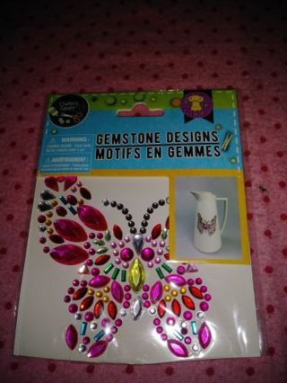 ❤❇️❤❇️❤️1 BRAND NEW LARGE MULTICOLORED RHINESTONE BUTTERFLY STICKER/DECAL❤❇️❤❇️❤LAST 1!