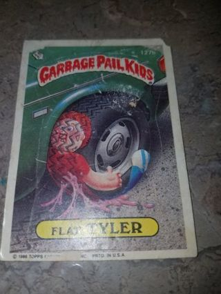 ORIGINAL GARBAGE PAIL kid card from 1986 Flat tyler,See pictures