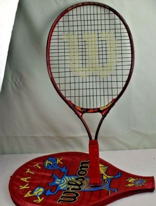 WiLSON OVreRSiZED RAKaTTAK 25 TiTANIUM racquet RAcKET & Case FREE SHIPPING