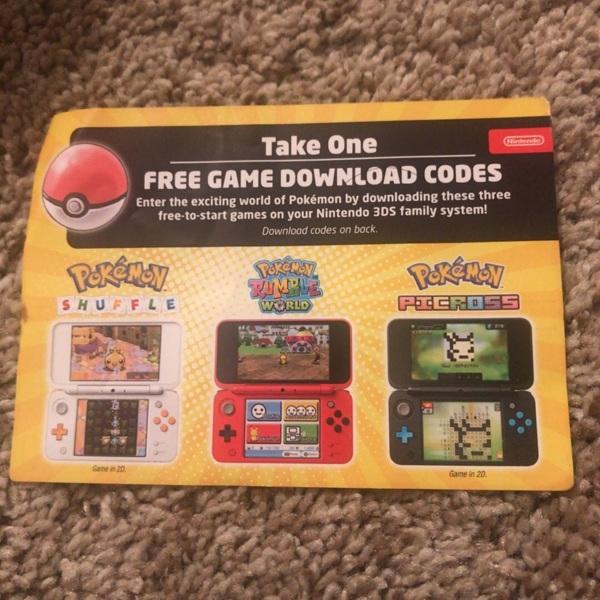 Free: 3 Pokémon 3DS GAME Codes - Nintendo Games - Listia com