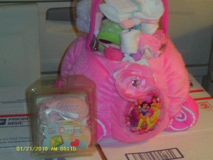 Fabulous Princess Basket Stuffed With Baby Girls Items Watchers Needed