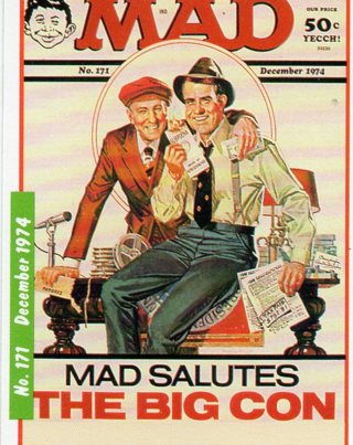 1992 MAD MAGAZINE Collector Card: Dec 1974