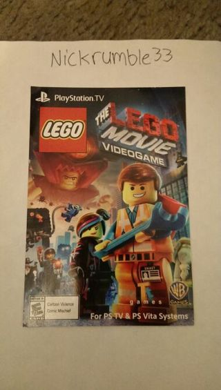 Free Sony Ps Vita The Lego Movie Video Game Code With Gin Option Video Game Prepaid Cards Codes Listia Com Auctions For Free Stuff