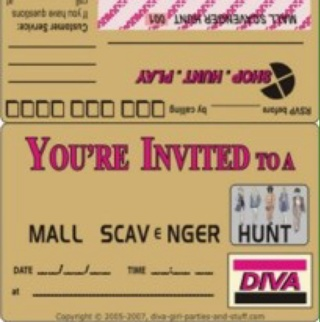 Free Printable Mall Scavenger Hunt Invitations That Look
