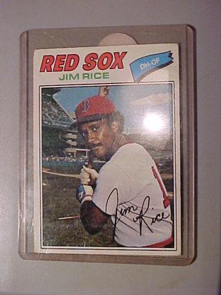 1977 Topps #60 Jim Rice Boston Red Sox in Hard Top Loader