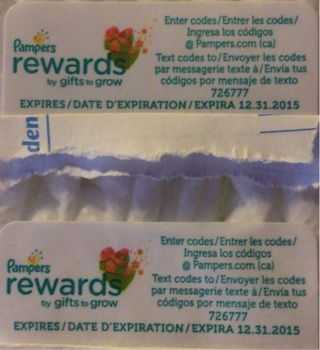 Two pampers rewards.