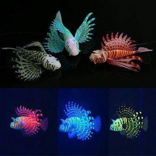 New Silicone Simulation Lionfish Luminous Aquarium Supplies Fish Tank Decoration