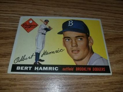 1955 Topps Baseball Bert Hamric #199 Brooklyn Dodgers,VGEX condition,Free Shipping!