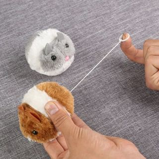 2PCs Moving Plush Mouse Funny Rat Playing Toy For Cat Kitten Pet Play Toys