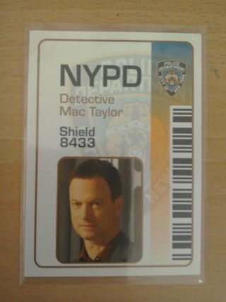 CSI NY Mac Taylor trading card