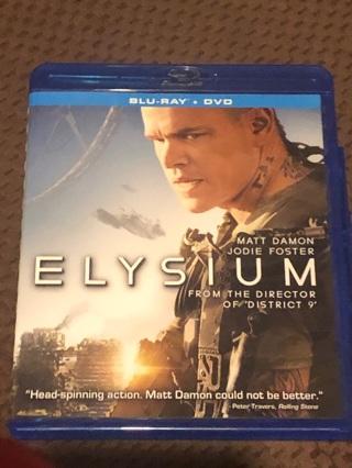 2013 ELYSIUM  BLU RAY & DVD