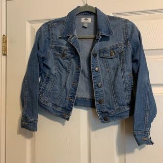 Very Nice OLD NAVY Girl's Blue Denim Jacket - Size L (10-12)