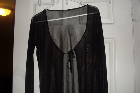 Free Black Velvet Evening Dress And Long Sheer Cover Up Other