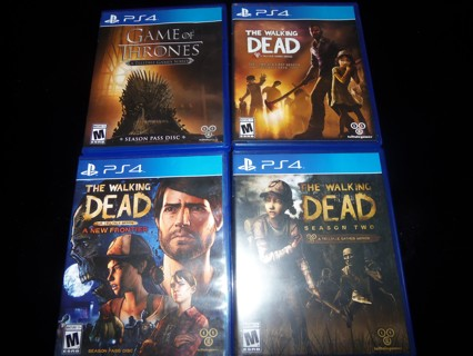 THE WALKING DEAD PS4 GAMES LOT + GAME of THRONES ~ Telltale ~ FREE SHIPPING Playstation 4