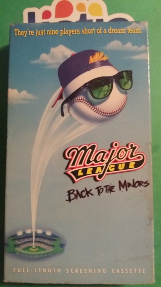 VHS movie  major league  back to the minors  free shipping