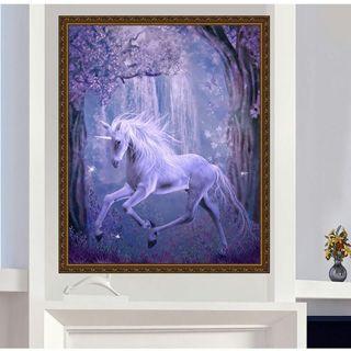 Cross Stitch Craft Home Decor DIY 5D Diamond unicorn Horse Embroidery Painting