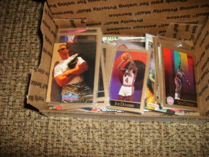 100 Football/Basketball cards early 90's