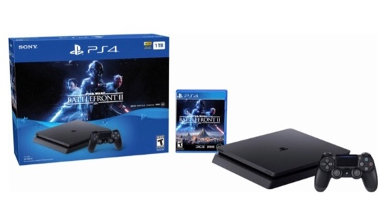 Sony - PlayStation 4 PS4 1 TB Star Wars Battlefront II Console Bundle - Jet Black + Bonus Free Game