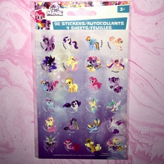 1 New Pack of My Little Pony Movie Stickers by Stickerfitti.
