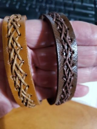 2 leather bands