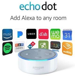 1 NEW Echo Dot (2nd Generation) - Smart speaker with Alexa - (White) FREE SHIPPING