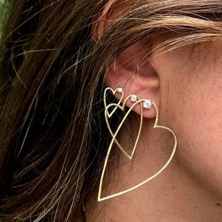 3 pcs/set Bohemian Retro Minimalist Rhinestone Gold Earrings Set Women Punk Personalized Jewelry