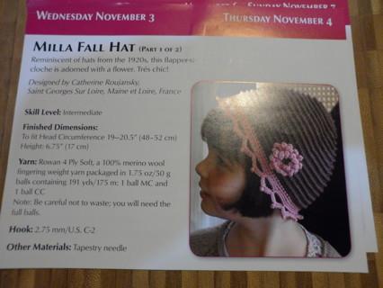 milla fall hat for child crochet