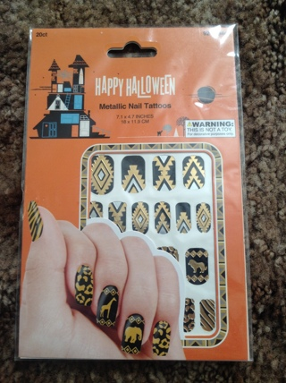 "One Sheet of ""Animals of Egypt"" Nail Stickers. NIP. Happy Halloween!!!"