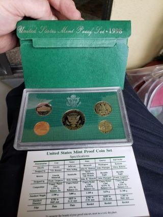 ~ 1998-S U.S. Mint Proof Coin Set w/ Cert of Authenticity and Case ~