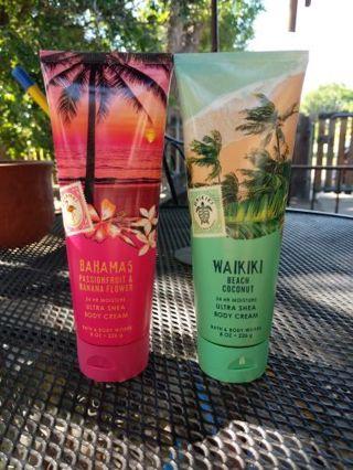 B&BW 24-hour moisture body creams
