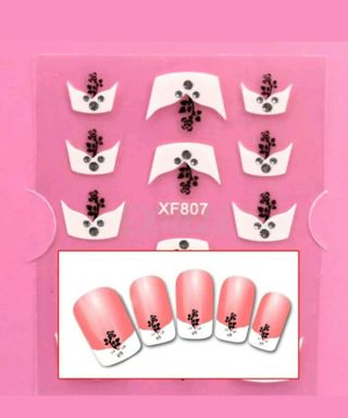1 Pk French Tip Nail Decals