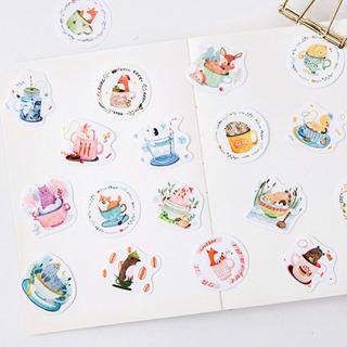 90 Pcs/Pack Decorative Adhesive Stickers DIY Decoration Diary Album Stickers