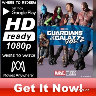 GUARDIANS OF THE GALAXY VOLUMN 2 HD GOOGLE PLAY CODE ONLY