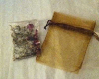 Summer Garden Bath Salt Sample & Organza Bag/Read description before bidding