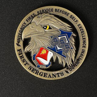 U.S. Army First Sergeants The Eagle Wing Military Commemorative Challenge Coin