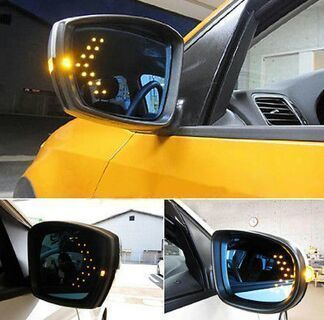 2PCs 14 SMD LED Arrow Panel For Car Rear Mirror Indicator Turn Signal Light