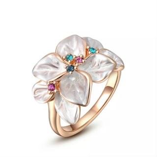 Multi Color Crystal Rhinestone Ring Size 7