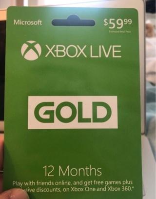 Xbox live 12 month