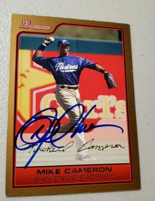 Autographed 2006 Bowman #94 Mike Cameron,San Diego Padres