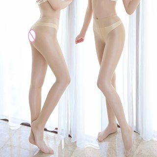 2019 Women Silk T-crotch Stocking Open Crotch Hosiery Tights Pantyhose Sexy Nylon Transparent Thin