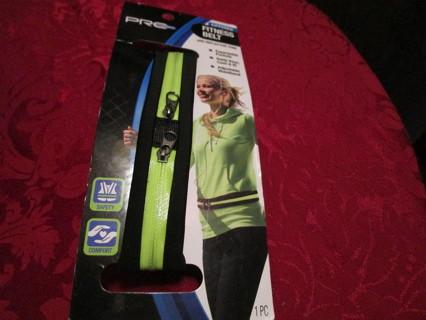 zippered reflective fitness safety belt
