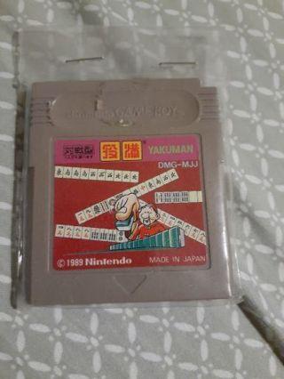 1989 gameboy Japanese rare game yakuman