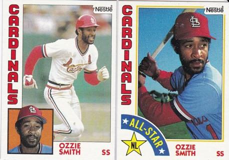Free 2 1984 Topps Nestle Ozzie Smith Baseball Cards Hof